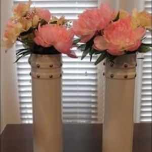 Tall ceramic vases (set of 2)